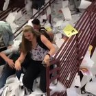 ghD4nE9ofDWe8Zrau1pOKwtWreaSn9WDNNeQNcDtXSQ Students on the last day of school throw an insane amount of paper down the stairs