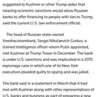 wEYDWHUxVIr N5HWNu45Y2ECxbjl6D6Z wI TSzRd U Jesus Christ, Kushner met with the head of a Russian bank, who was appointed to his position by Putin, when the bank was under US sanctions, and failed to disclose this meeting, among others, on his security clearance forms