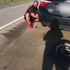 ndht Y849TUH2qmZ3O5wl0C1UpjAZG83 TS6CmLuhJo Driving across the country when my tire popped near KS/CO border. This guy pulled over within 30 seconds and helped me. If you are out there, thank you very much!